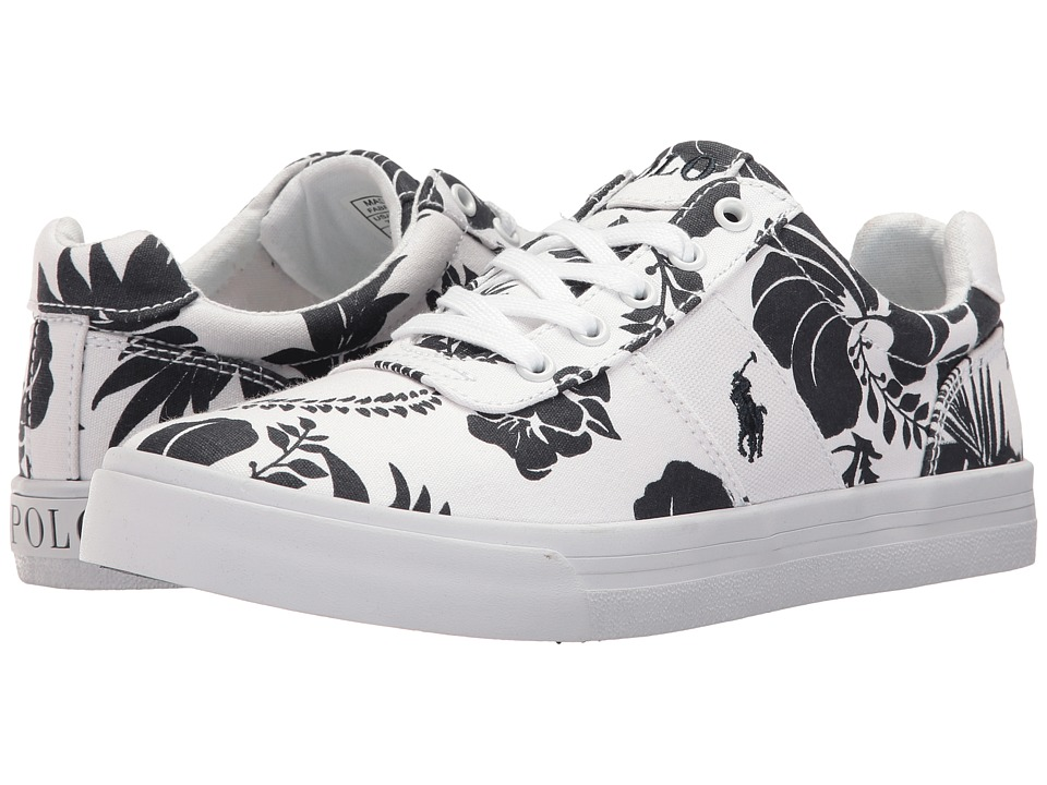 Polo Ralph Lauren Kids - Hanford (Big Kid) (White Base/Navy Floral) Girl's Shoes