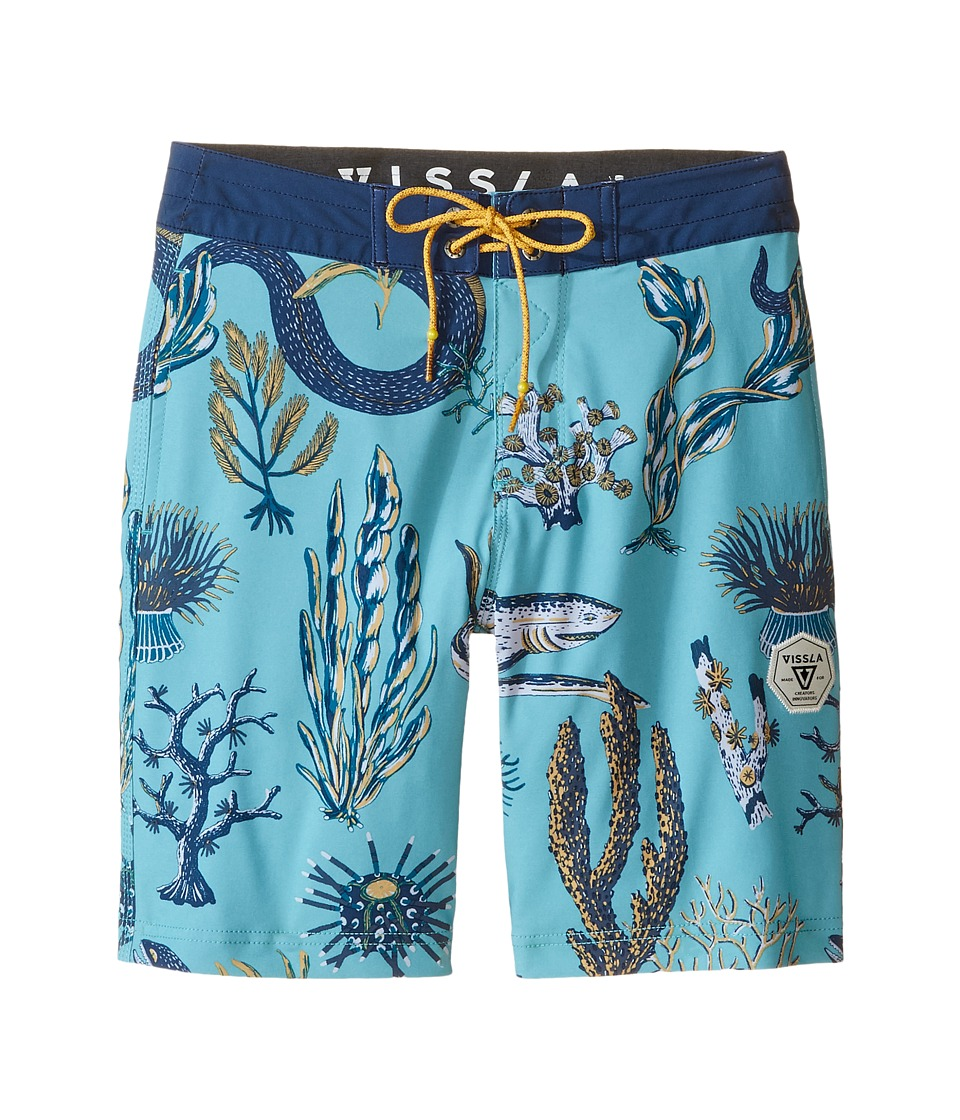 VISSLA Kids - Mystic Abyss 4-Way Stretch Boardshorts 17 (Big Kids) (Jade) Boy's Swimwear