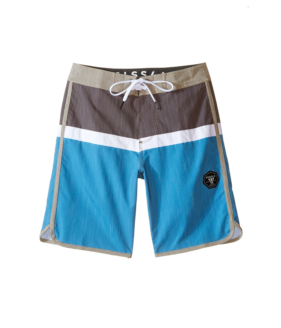 VISSLA Kids - Dredges 4-Way Stretch Boardshorts 17 (Big Kids) (Java) Boy's Swimwear