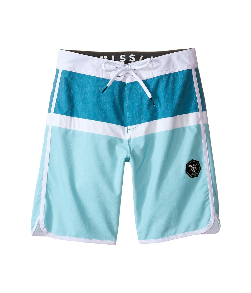 VISSLA Kids - Dredges 4-Way Stretch Boardshorts 17 (Big Kids) (Aqua) Boy's Swimwear