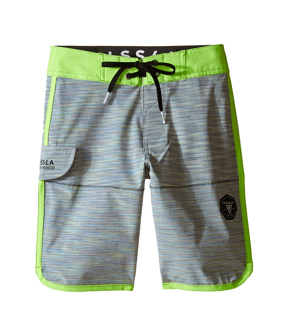 VISSLA Kids - Spaced Diver 4-Way Stretch Space Dye Boardshorts 17 (Big Kids) (Charcoal) Boy's Swimwear