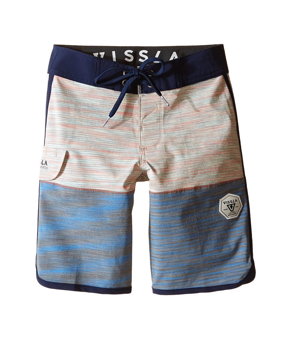 VISSLA Kids - Spaced Diver 4-Way Stretch Space Dye Boardshorts 17 (Big Kids) (Orange) Boy's Swimwear