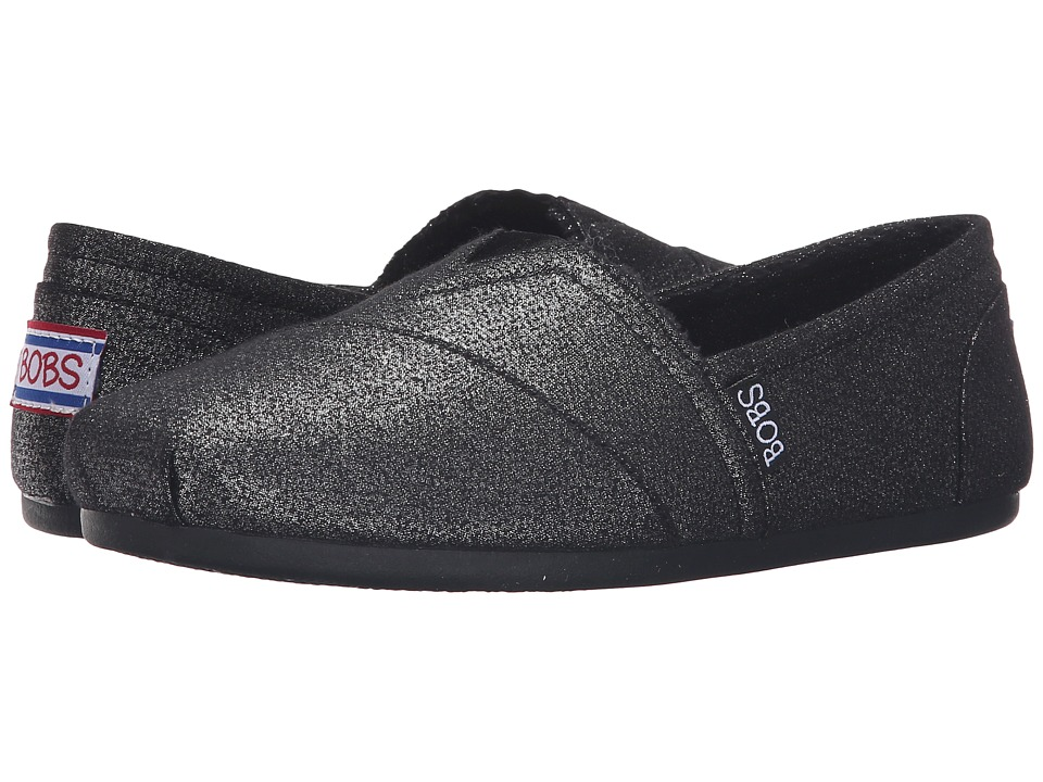 BOBS from SKECHERS Bobs Plush Shimmerz (Black) Women