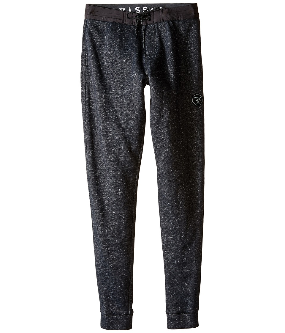VISSLA Kids - Sofa Surfer All Sevens Novelty Fleece Pants 27 (Big Kids) (Black) Boy's Casual Pants
