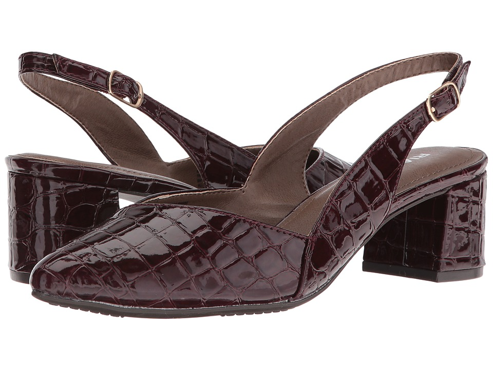 Rialto - Mimi (Bordeaux Croco Patent) Women's Shoes
