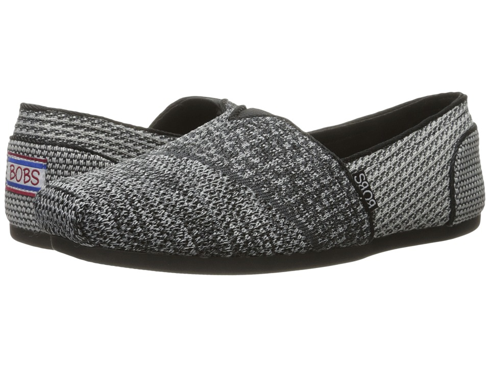 BOBS from SKECHERS Bobs Plush Silhouettes (Black/Gray) Women