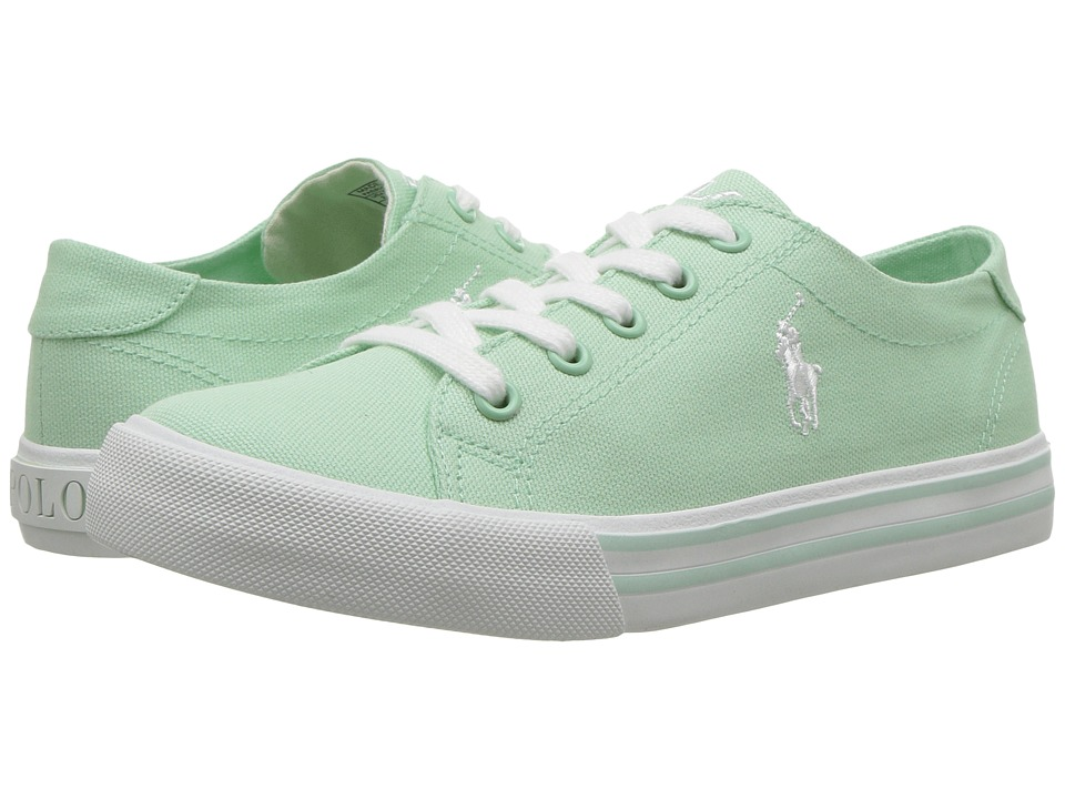 Polo Ralph Lauren Kids - Slater (Little Kid) (Pistachio Canvas/White Pony Player) Girl's Shoes