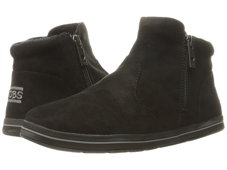 BOBS from SKECHERS - Bobs Flexy - Road Trip (Black/Black) Women's Zip Boots