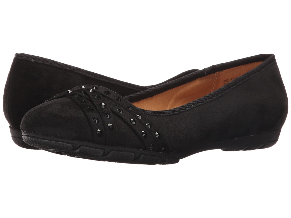 Rialto - Genevieve (Black Suedette) Women's Shoes