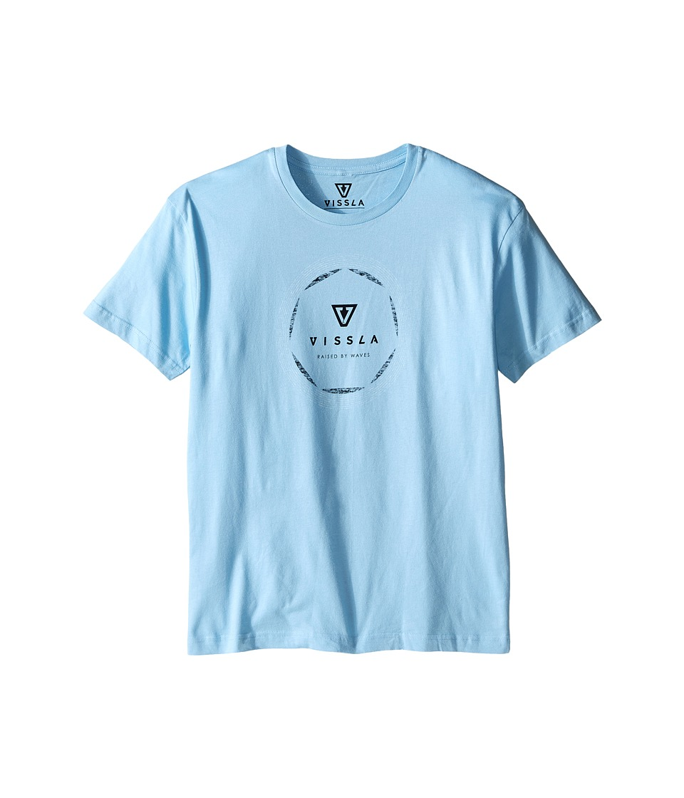 VISSLA Kids - Pie 30 Singles Cotton Short Sleeve Tee (Big Kids) (Light Blue) Boy's T Shirt