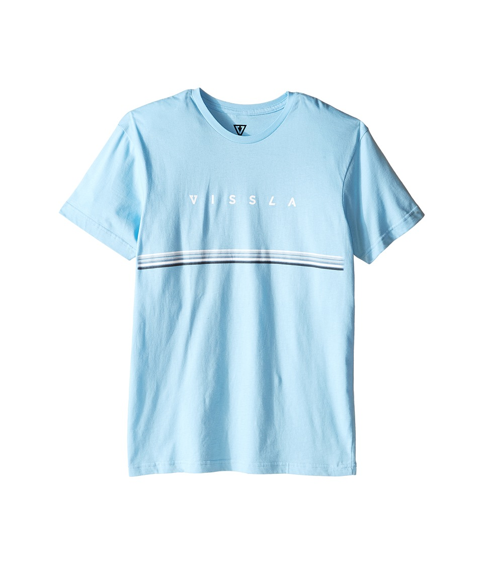VISSLA Kids - Lei Day 30 Singles Cotton Short Sleeve Tee (Big Kids) (Light Blue) Boy's T Shirt