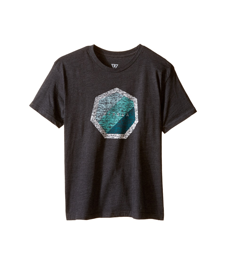 VISSLA Kids - Heat Wave Heathered 30 Singles Short Sleeve Tee (Big Kids) (Black Heather) Boy's T Shirt