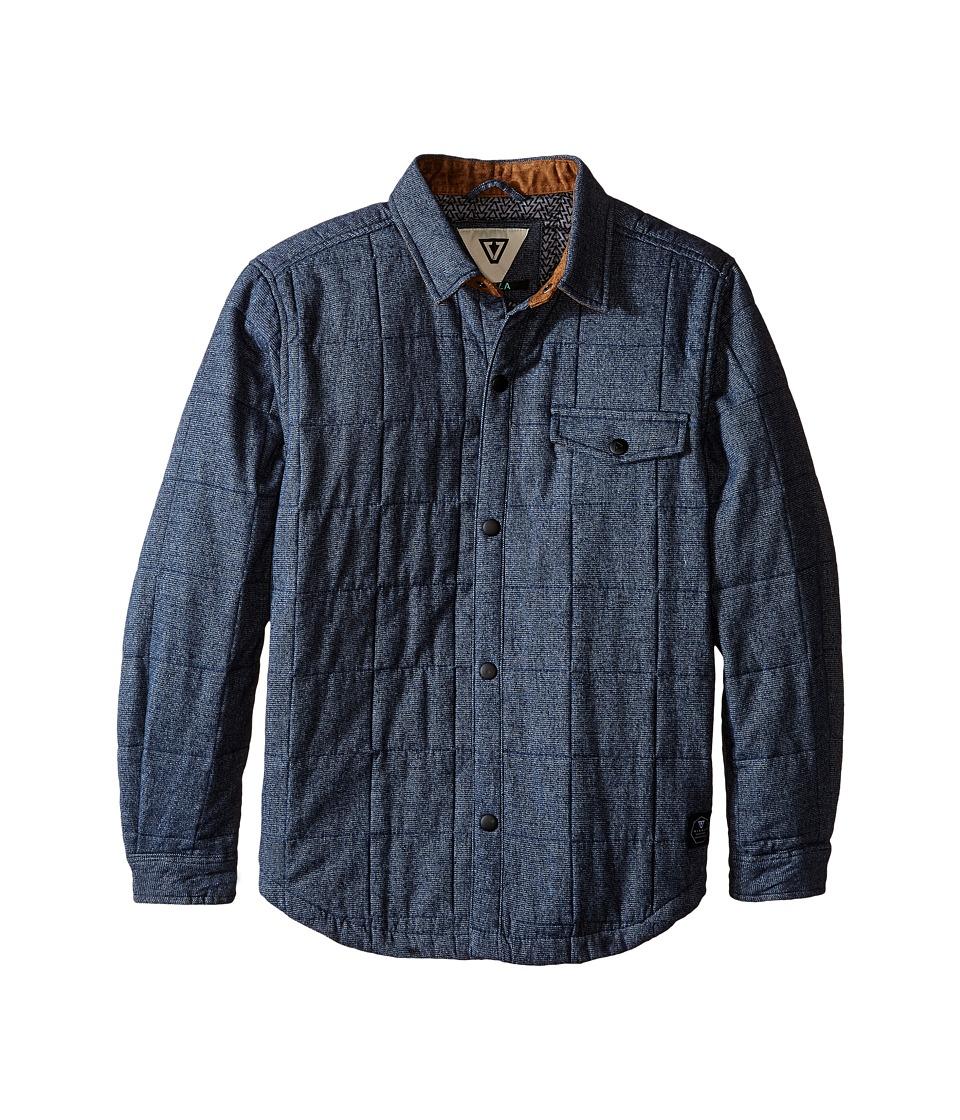 VISSLA Kids - Cronkhite Quilted Shirt Jacket (Big Kids) (Dark Navy) Boy's Coat