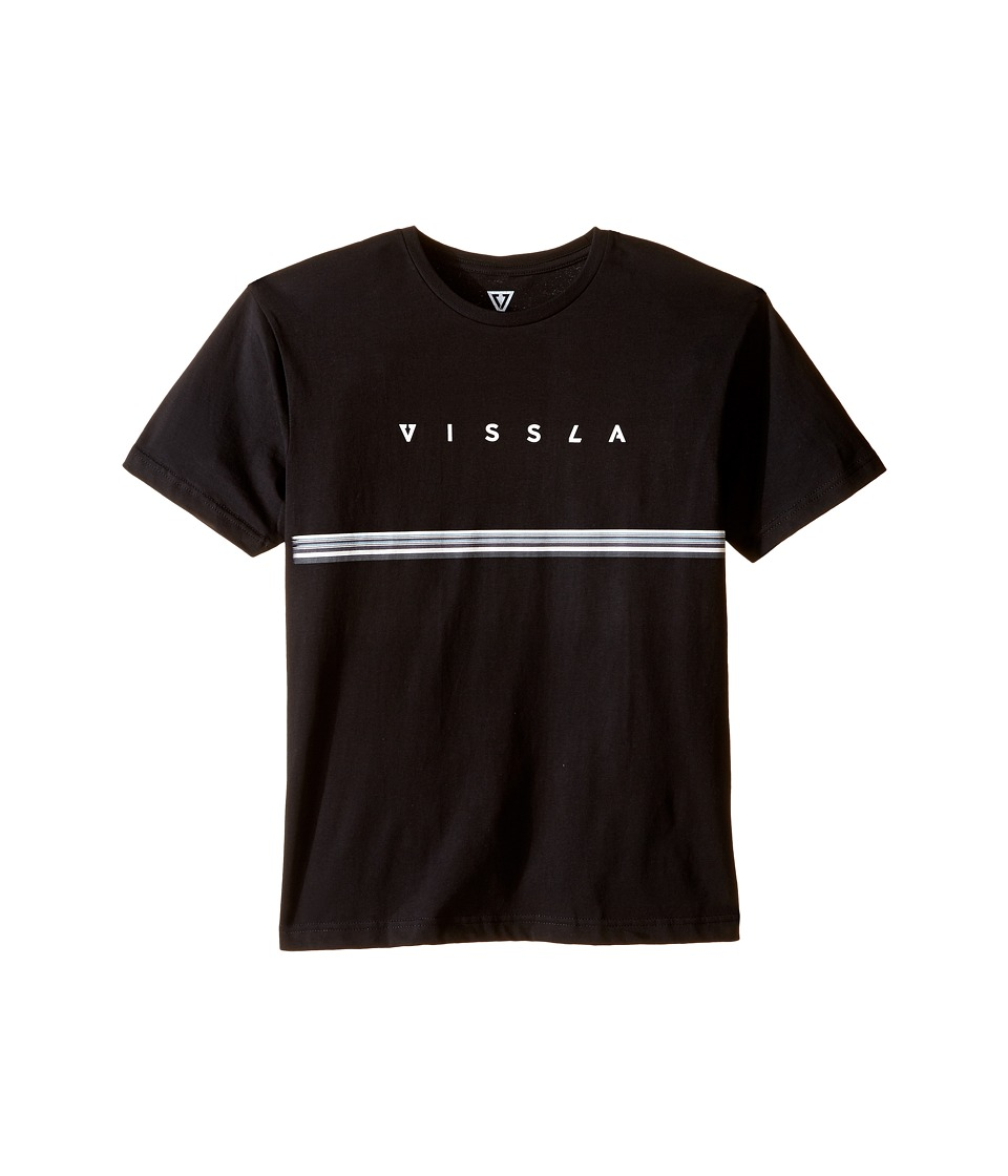 VISSLA Kids - Lei Day 30 Singles Cotton Short Sleeve Tee (Big Kids) (Black) Boy's T Shirt