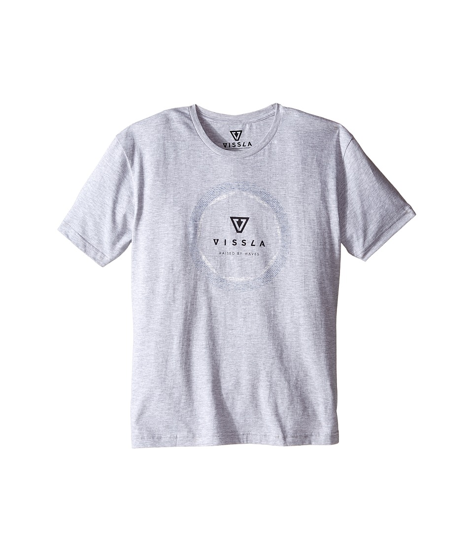 VISSLA Kids - Pie 30 Singles Cotton Short Sleeve Tee (Big Kids) (Athletic Heather) Boy's T Shirt