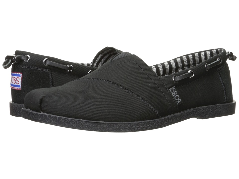 BOBS from SKECHERS - Chill Luxe - Traveler (Black/Black) Women's Shoes