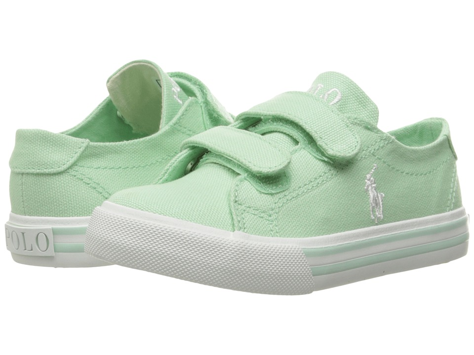 Polo Ralph Lauren Kids - Slater EZ (Toddler) (Pistachio Canvas/White Pony Player) Girl's Shoes