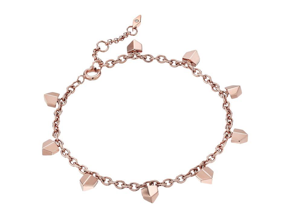 Fossil - Vintage Glitz Chevron Bracelet (Rose Gold) Bracelet