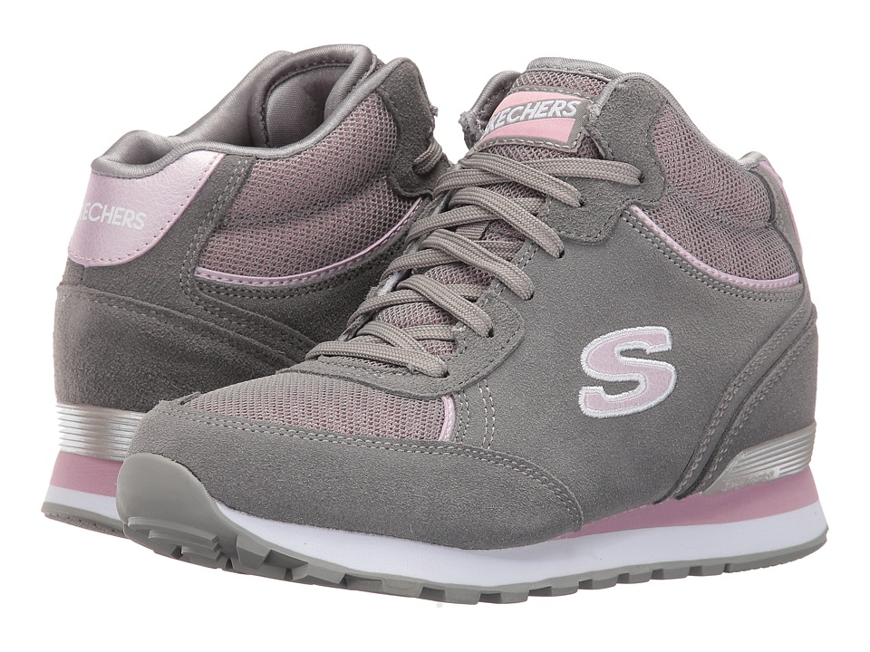 SKECHERS - OG 82 (Gray/Pink) Women's Shoes