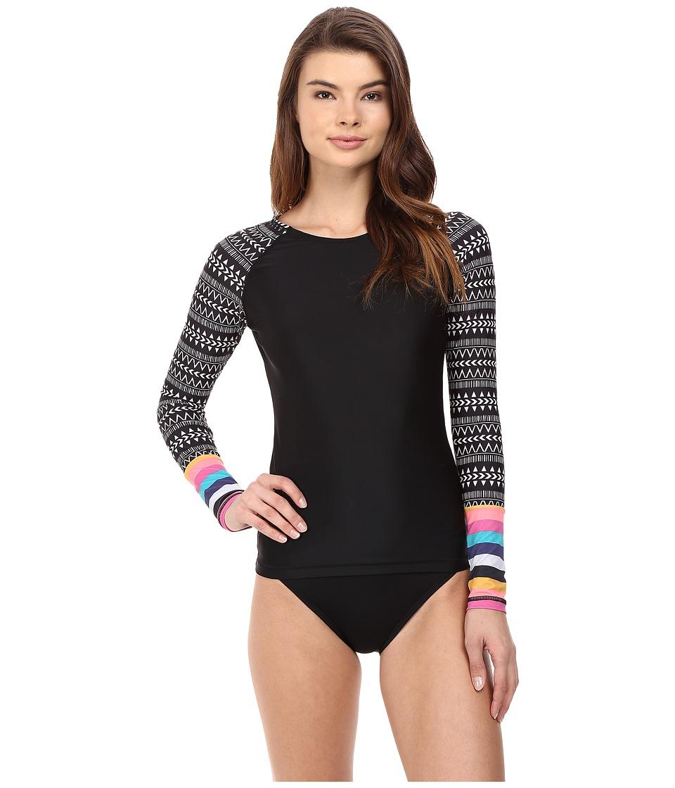 Volcom - On the Horizon Long Sleeve Cover-Up (Black) Women's Swimwear