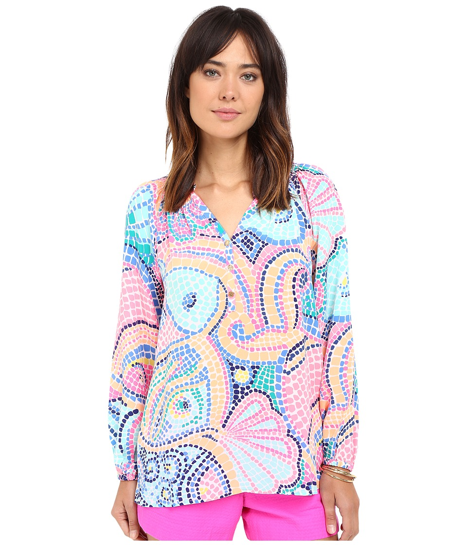 Lilly Pulitzer - Elsa Top (Multi Tile Wave) Women's Blouse