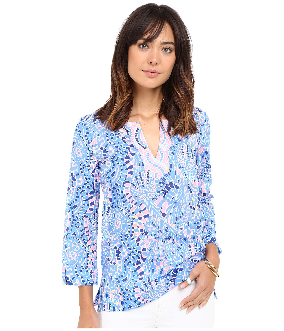 Lilly Pulitzer - Amelia Island Tunic (Multi Tic Tac Tile All Over) Women's Blouse