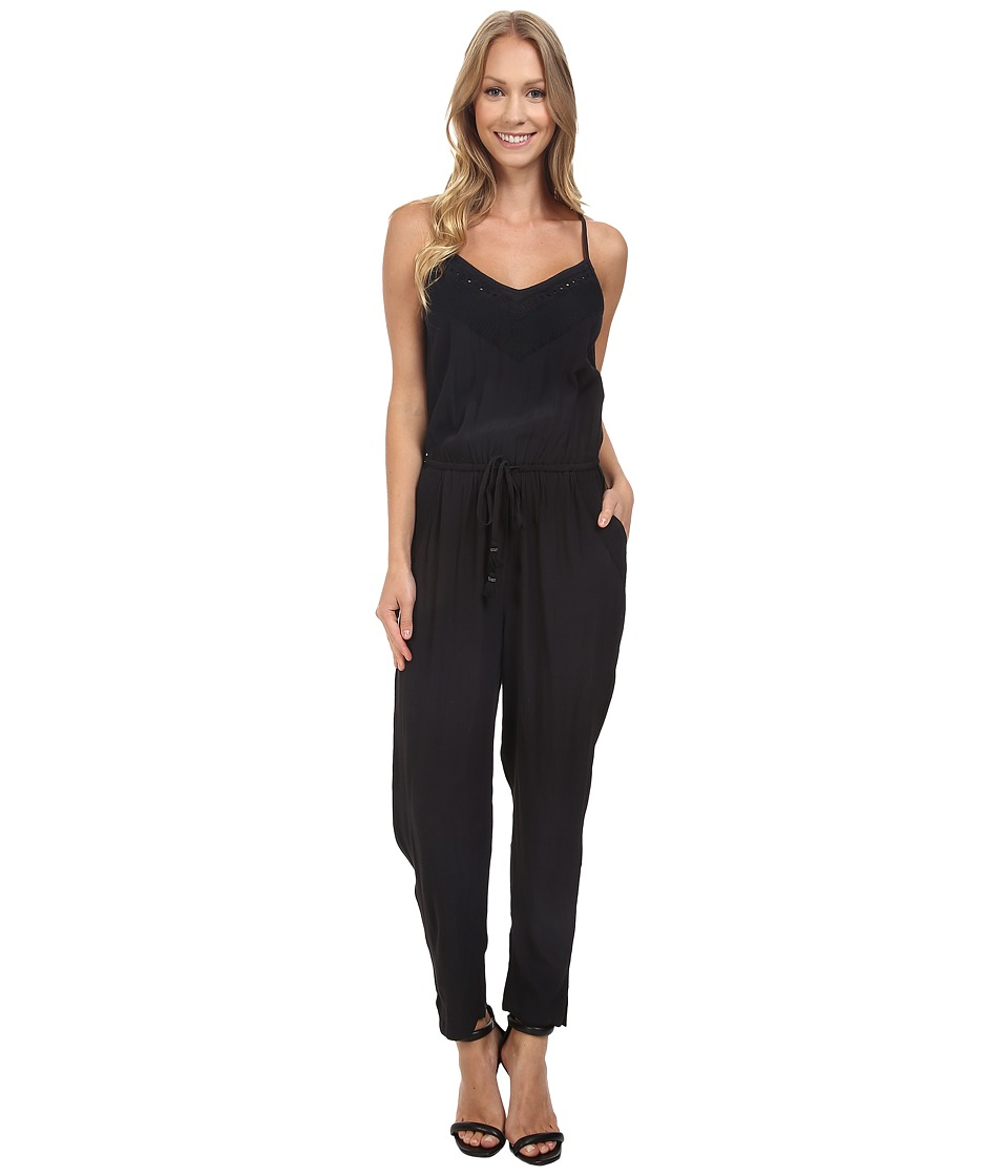 Lucky Brand - Embroidered Jumpsuit (Jet Black) Women's Jumpsuit & Rompers One Piece