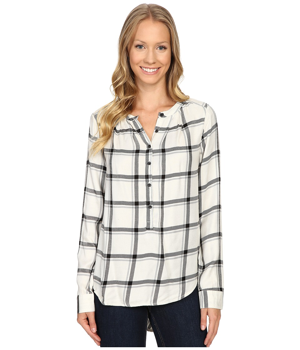 Lucky Brand - Girlfriend Plaid Shirt (White Multi) Women's Long Sleeve Pullover