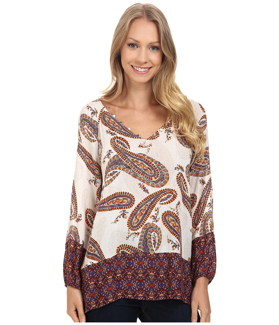 Lucky Brand - Paisley Print Blouse (Natural Multi) Women's Blouse