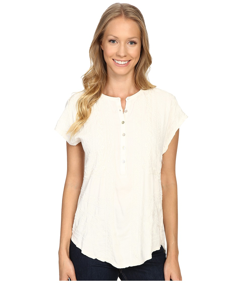 Lucky Brand - Embroidered Top (Whisper White) Women's Clothing