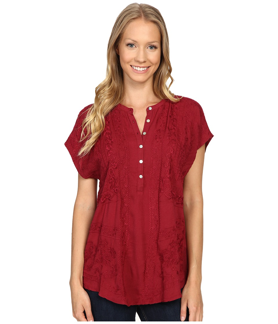 Lucky Brand - Embroidered Top (Tibetan Red) Women's Clothing