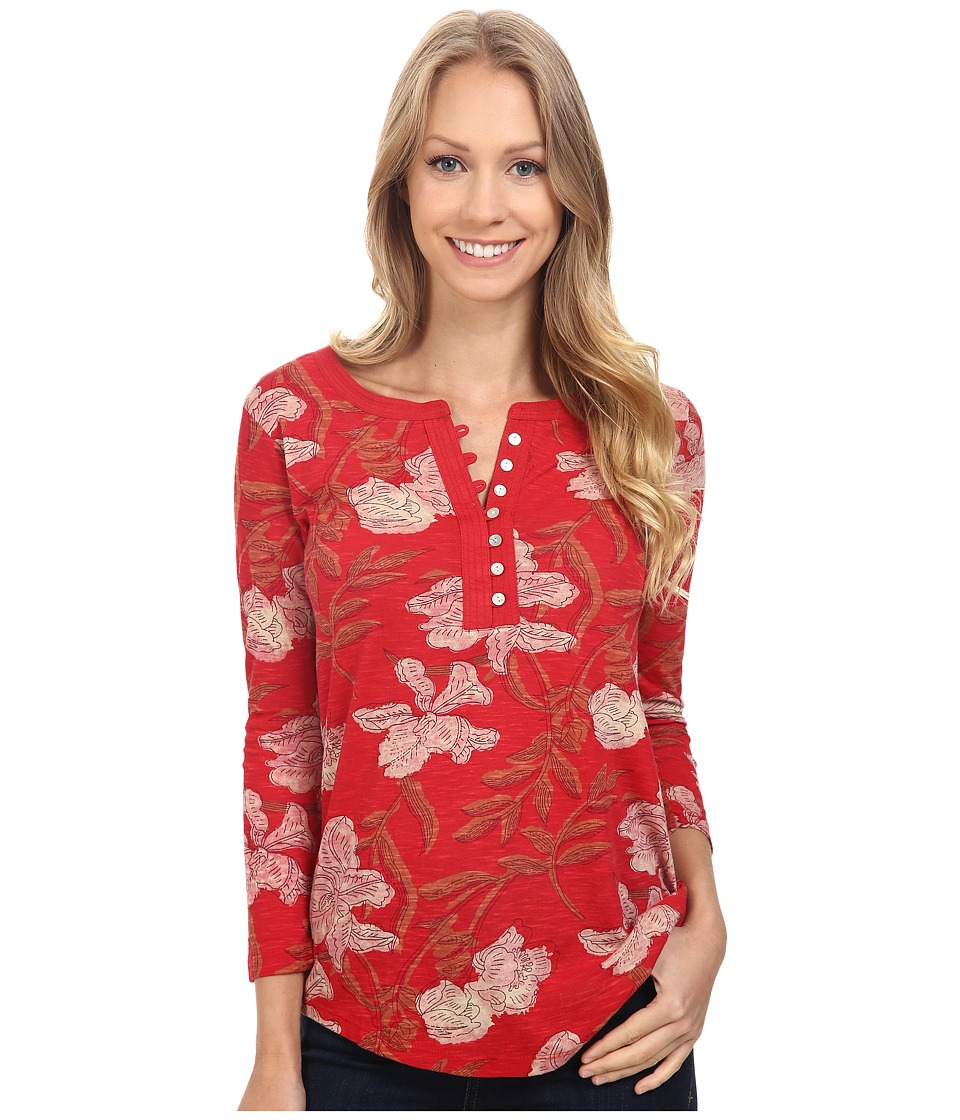 Lucky Brand - Red Floral Top (Red Multi) Women's Clothing