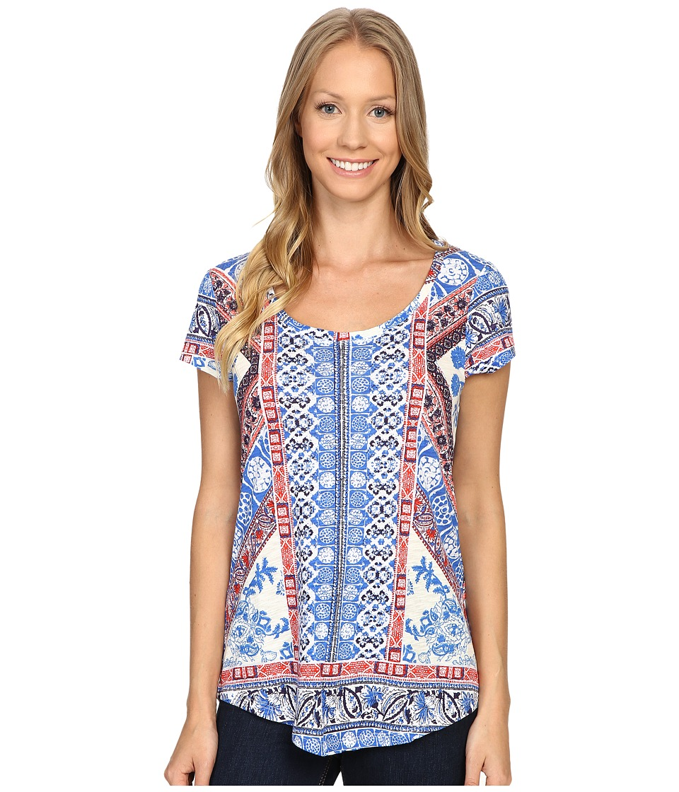 Lucky Brand Diamond Tile Tee (Bright White) Women