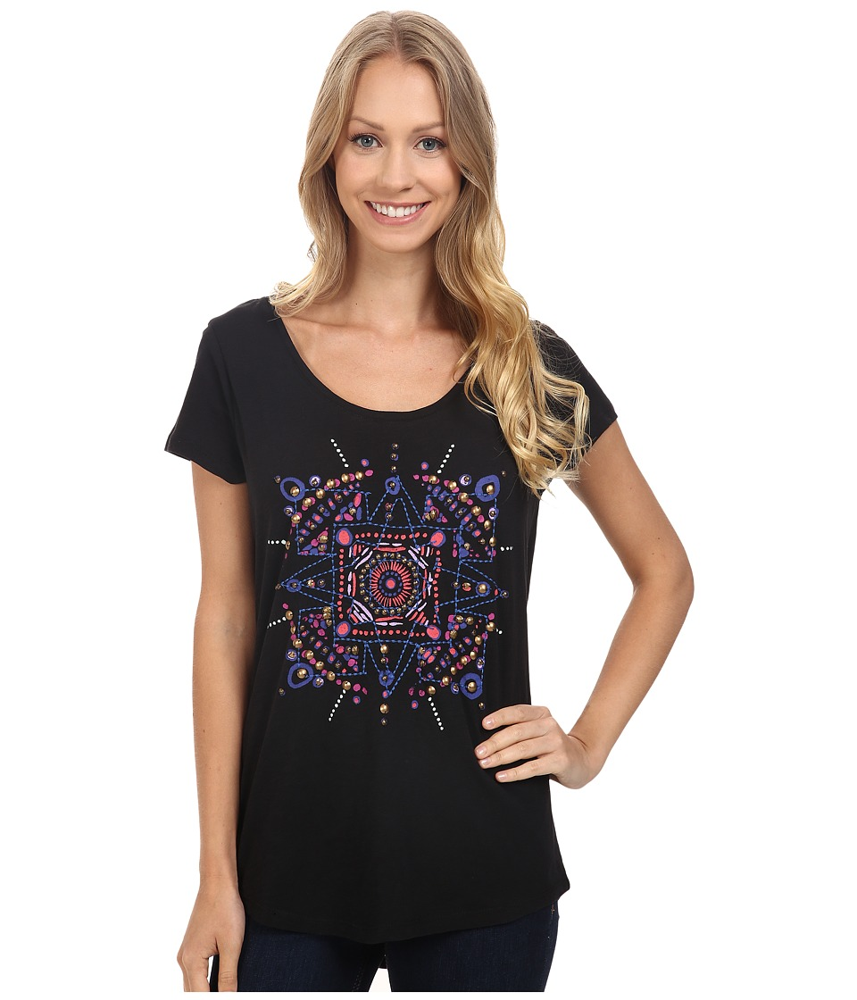 Lucky Brand - Mandala Dots Tee (Black Mountain) Women's T Shirt