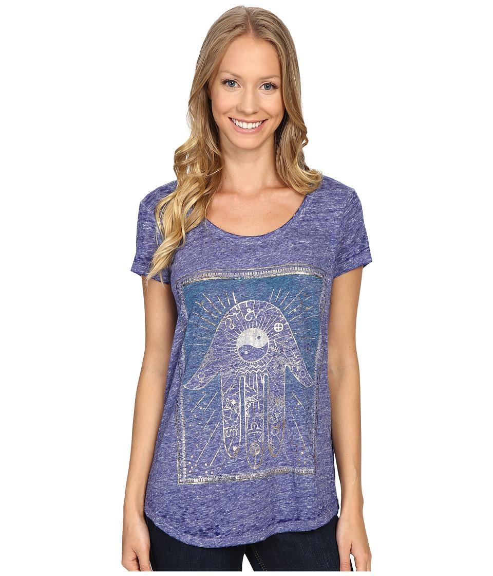 Lucky Brand - Moroccan Card Tee (Clematis Blue) Women's T Shirt