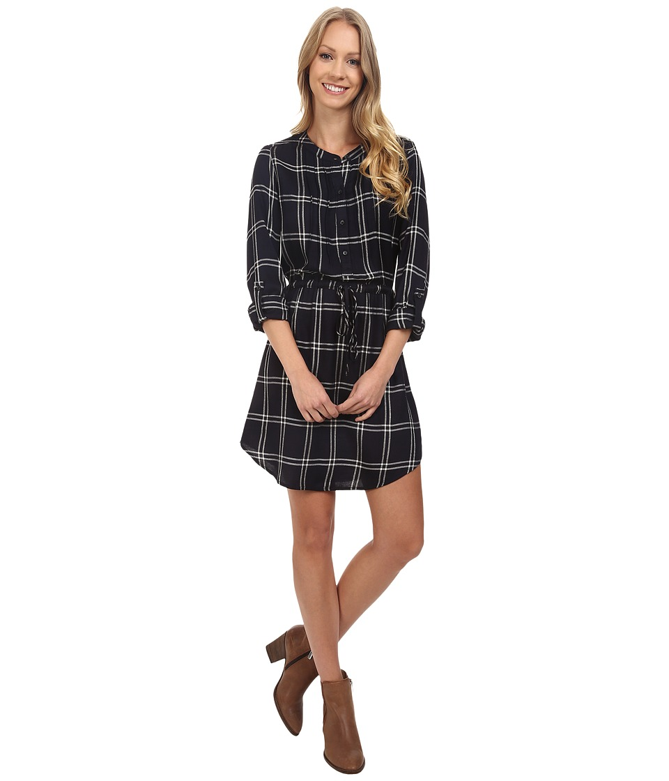 Lucky Brand - Girlfriend Plaid Dress (Lucky Black) Women's Dress