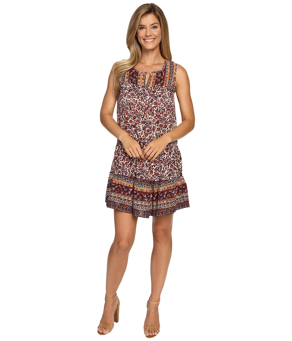 Lucky Brand - Scarf Printed Dress (Red Multi) Women's Dress