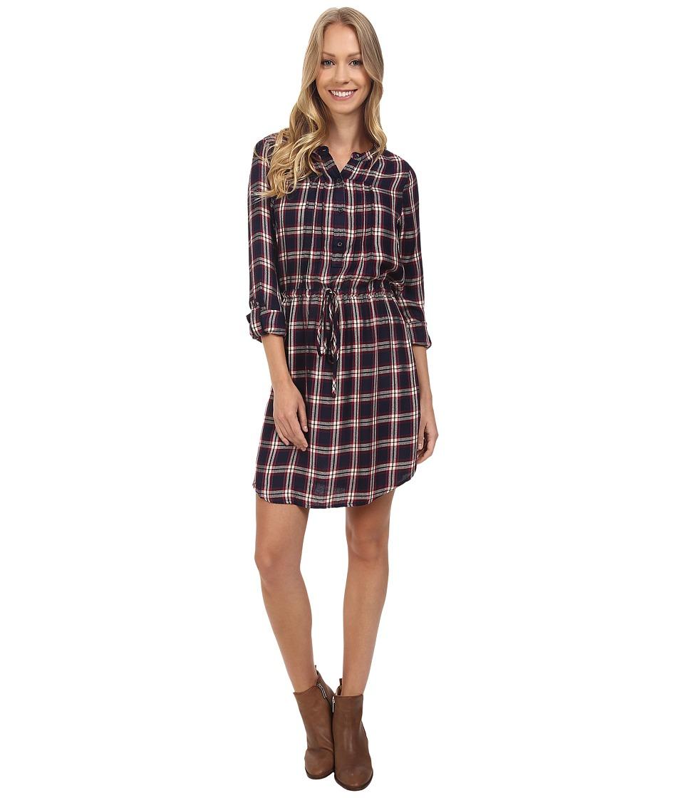 Lucky Brand - Bungalow Plaid Dress (Navy Multi) Women's Dress