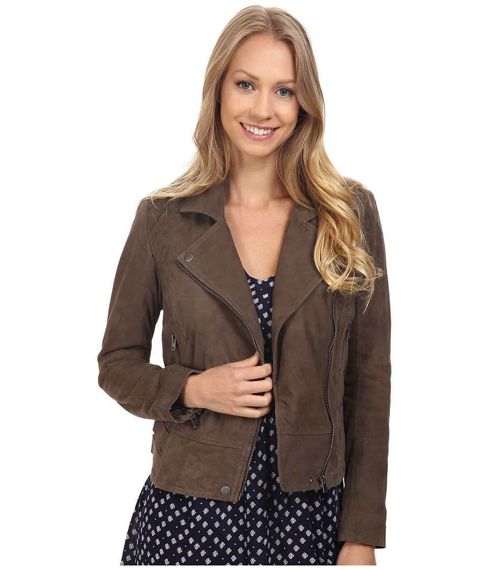 Lucky Brand - Suede Moto Jacket (Deep Taupe) Women's Coat