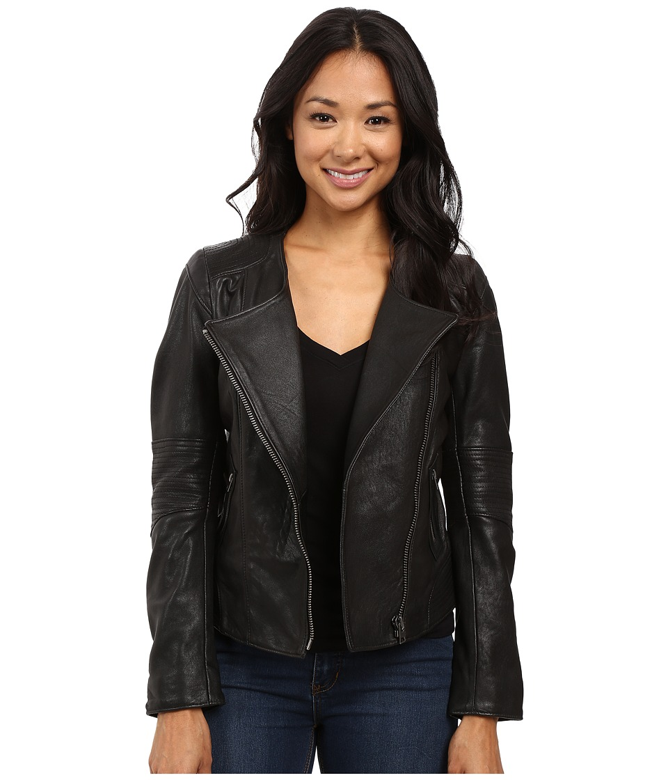 Lucky Brand - City Leather Jacket (Lucky Black) Women's Coat