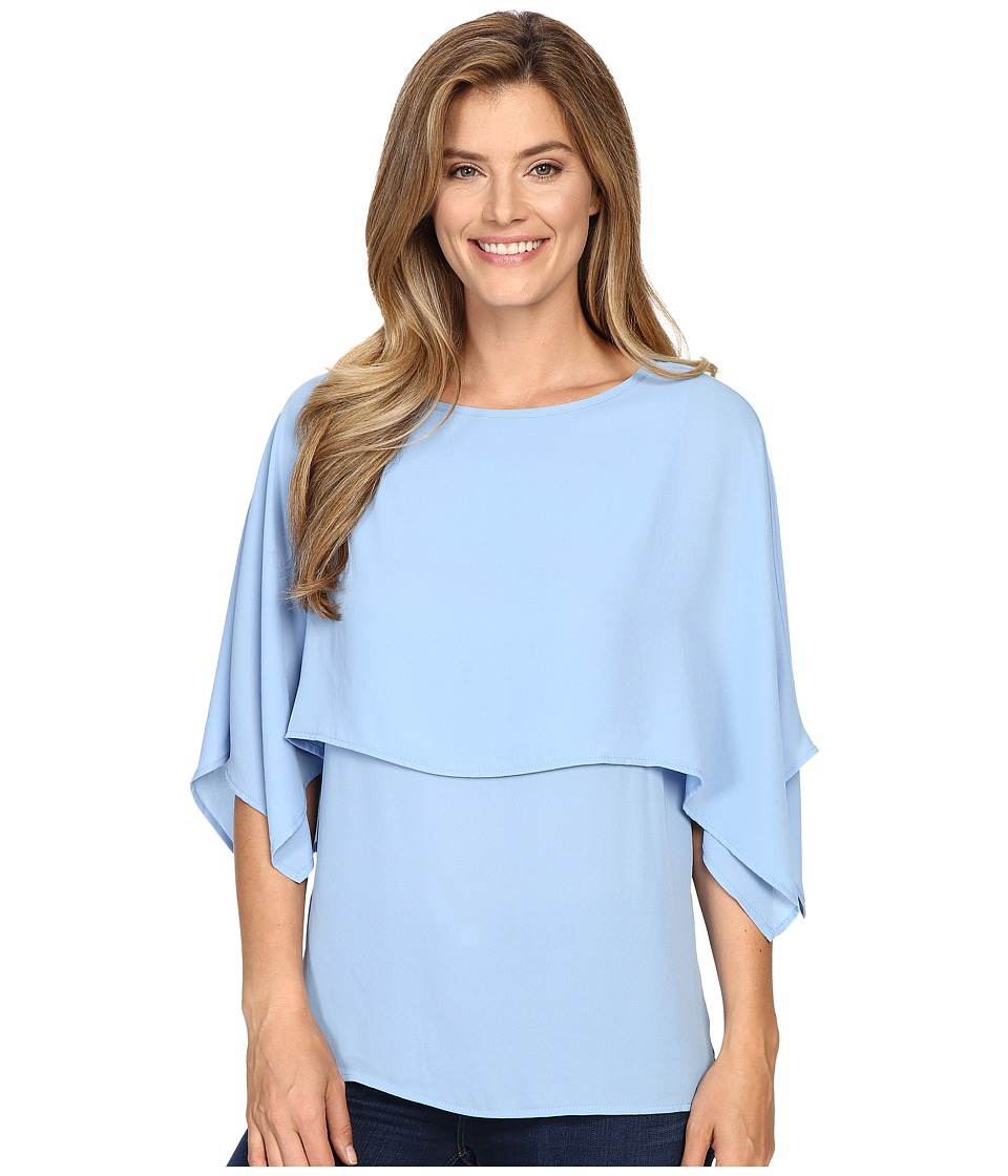 Karen Kane - Double Layer Top (Blue) Women's Blouse