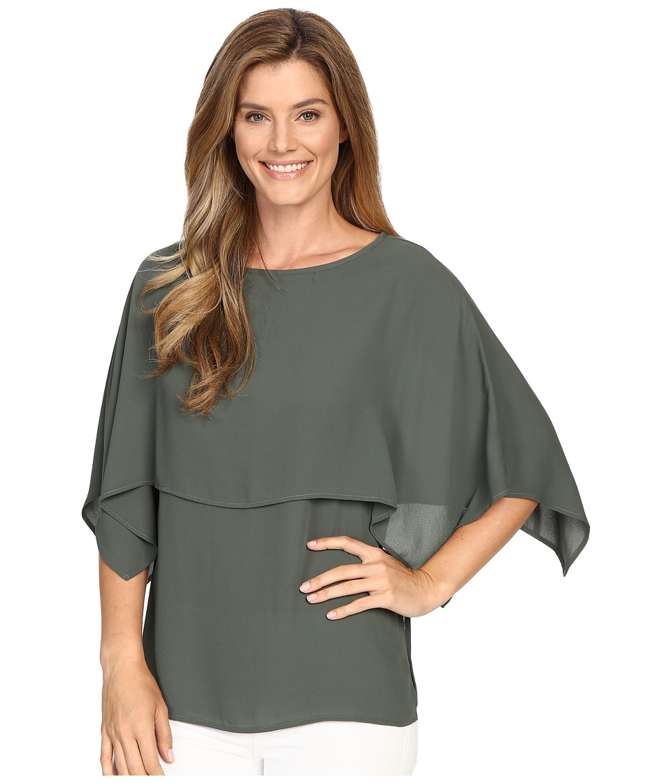 Karen Kane - Double Layer Top (Olive) Women's Blouse