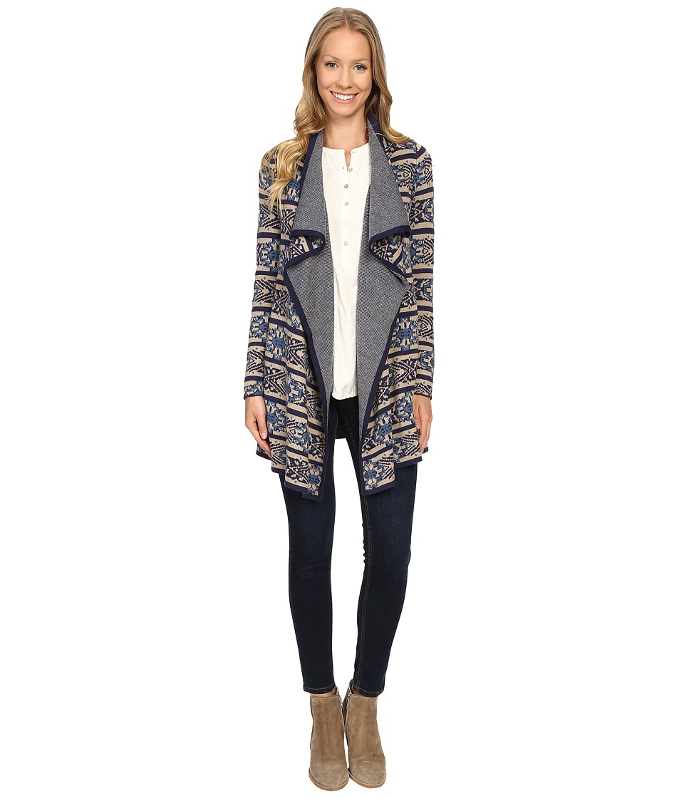 Lucky Brand - Scarf Pattern Cardigan (Multi Combo) Women's Sweater