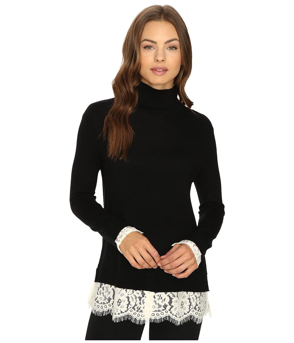 Joie - Fredrika 483-K2283 (Caviar/Porcelain) Women's Long Sleeve Pullover