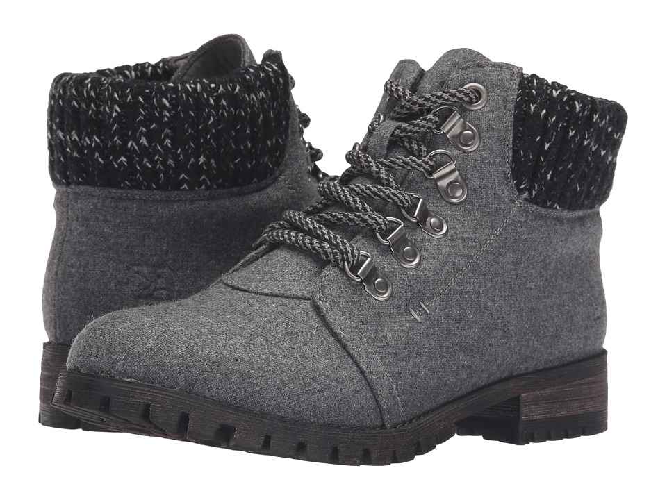 Dirty Laundry - Treble (Dark Grey Flannel) Women's Lace-up Boots