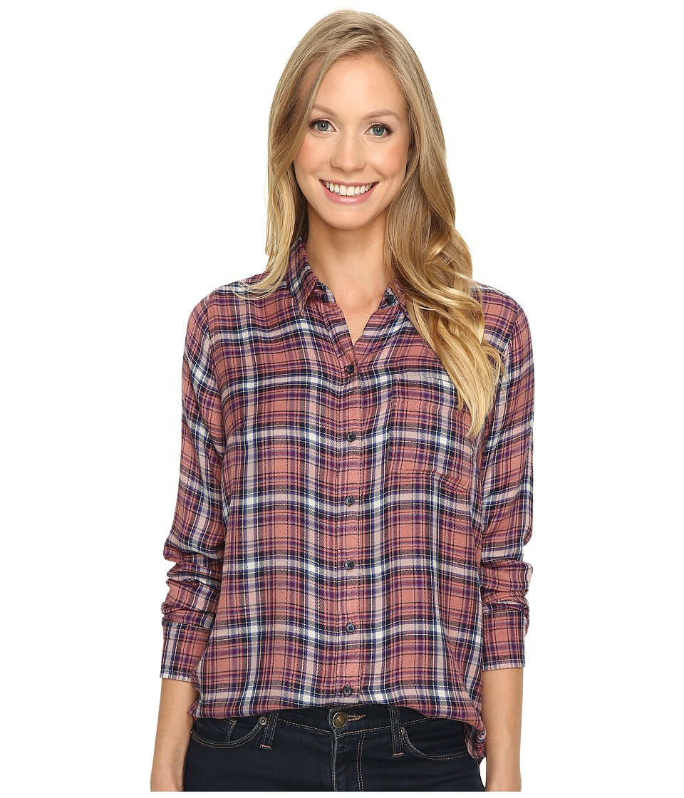 Lucky Brand - Bungalow Plaid Top (Pink Multi) Women's Long Sleeve Pullover