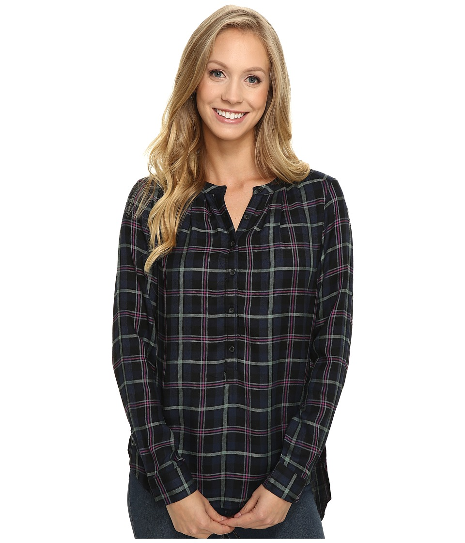 Lucky Brand - Girlfriend Plaid Shirt (Green Multi) Women's Long Sleeve Pullover