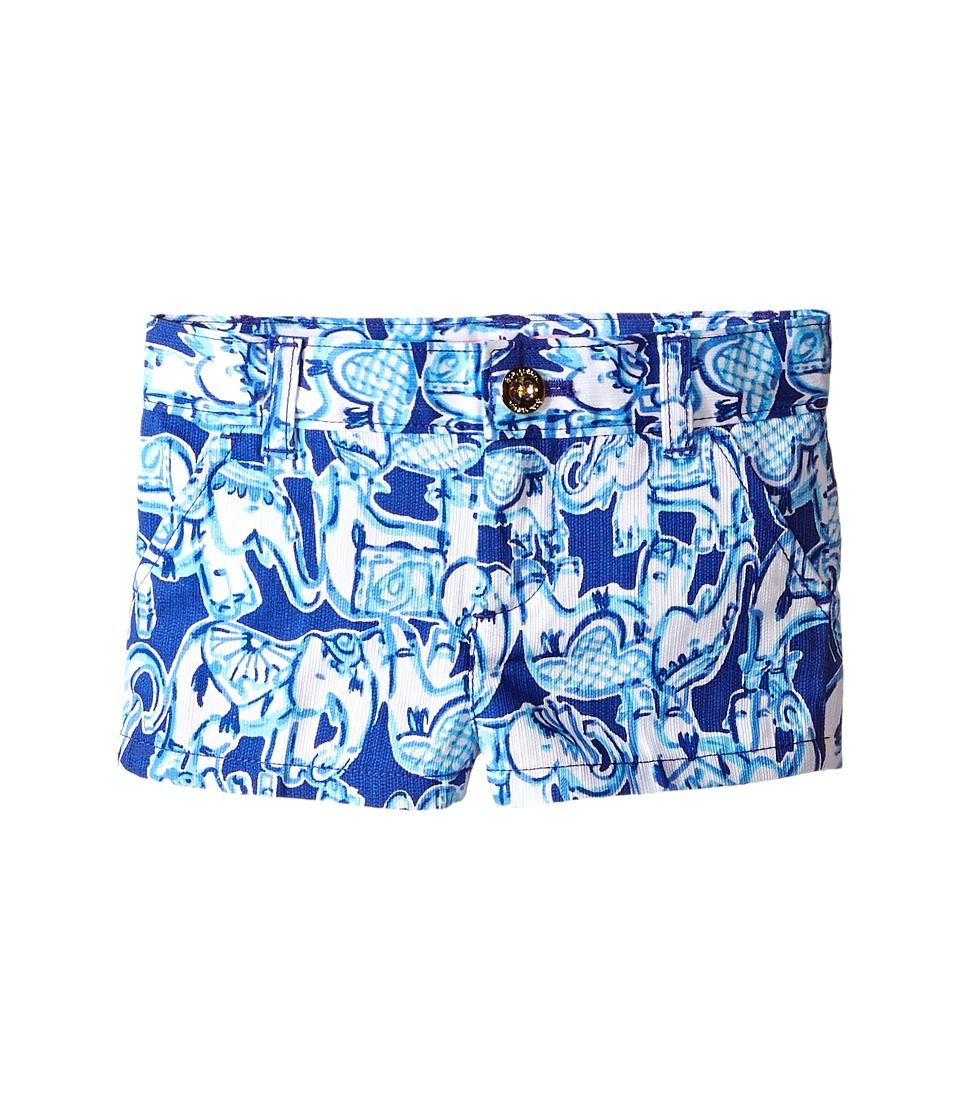Lilly Pulitzer Kids - Mini Callahan Shorts (Toddler/Little Kids/Big Kids) (Bomber Blue Get Trunky) Girl's Shorts