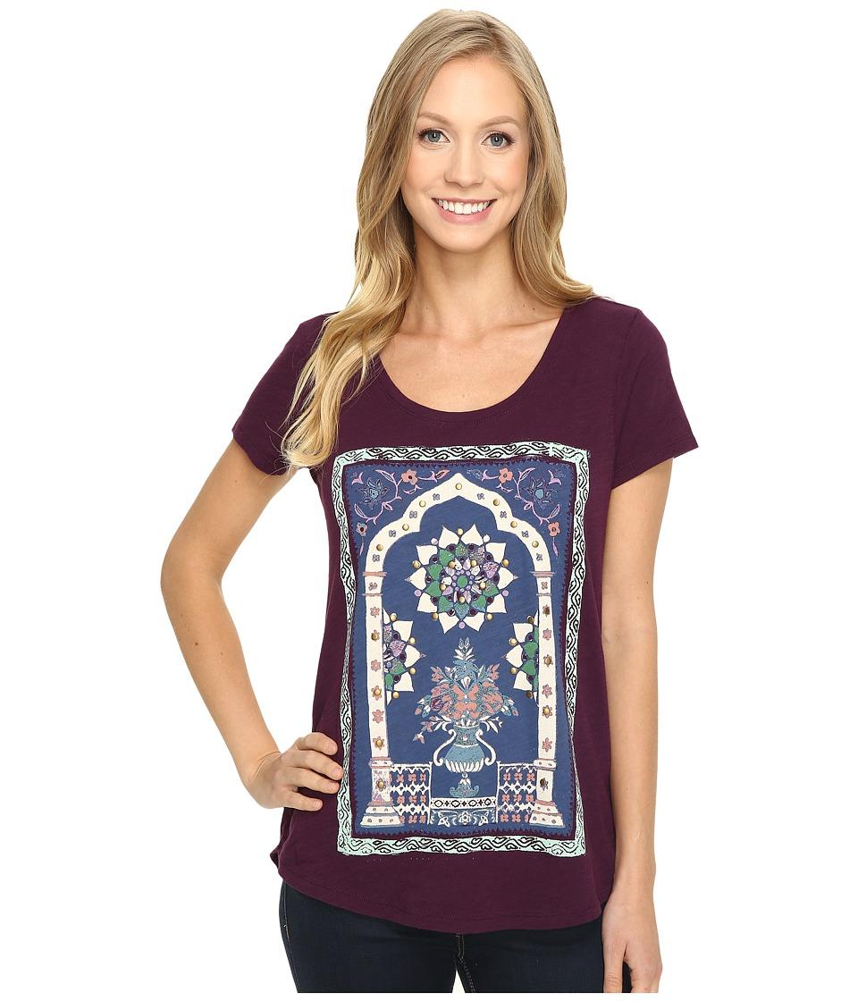 Lucky Brand - Masaleum Tee (Potent Purple) Women's T Shirt