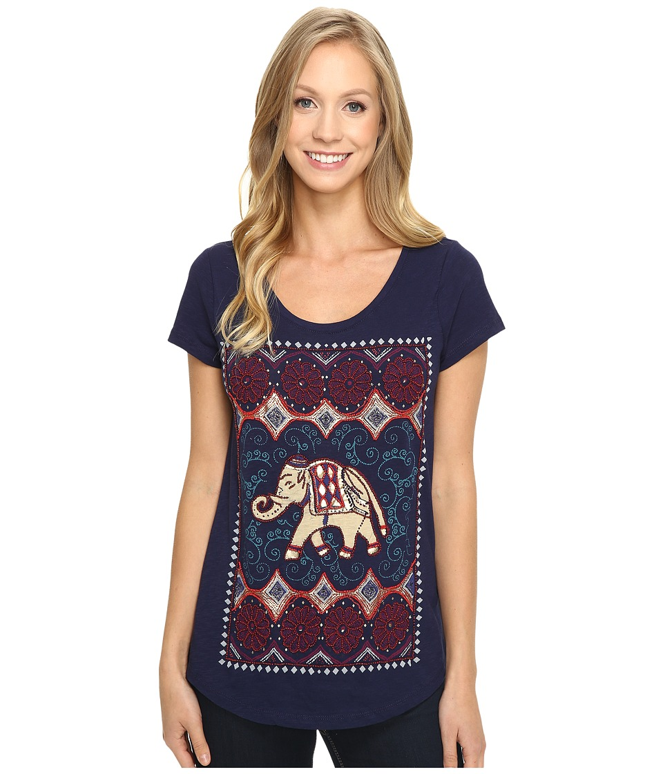 Lucky Brand Dotted Elephant Tee (Astral Aura) Women